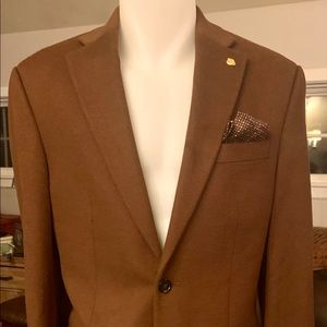 LAUREN CAMEL wool/cashmere Blazer BNWOT 36R